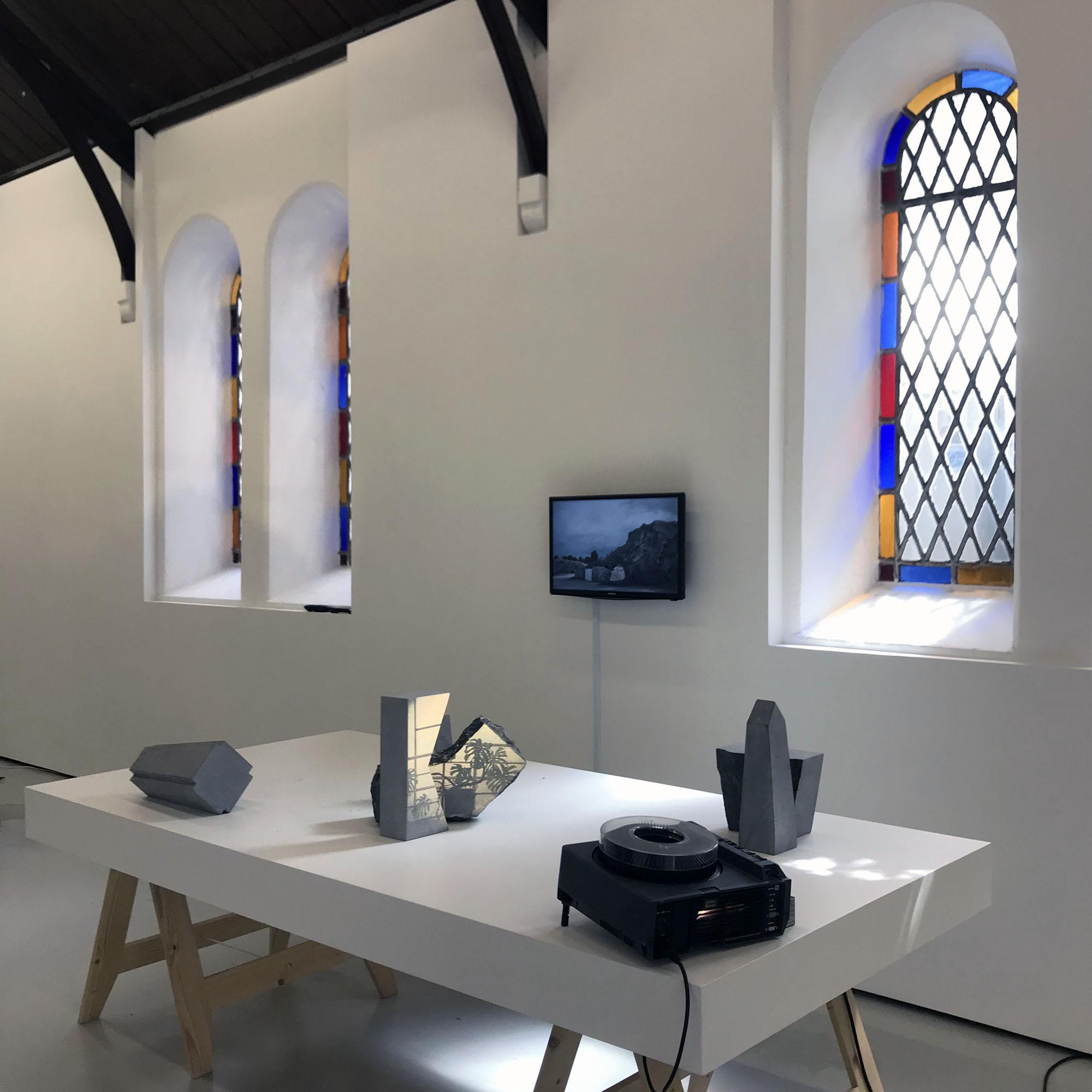 'Irish Limestone' 6 x pieces of cut and polished Irish Limestone, 2018
